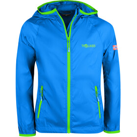 TROLLKIDS Fjell Running Jacket Kids, medium blue/green